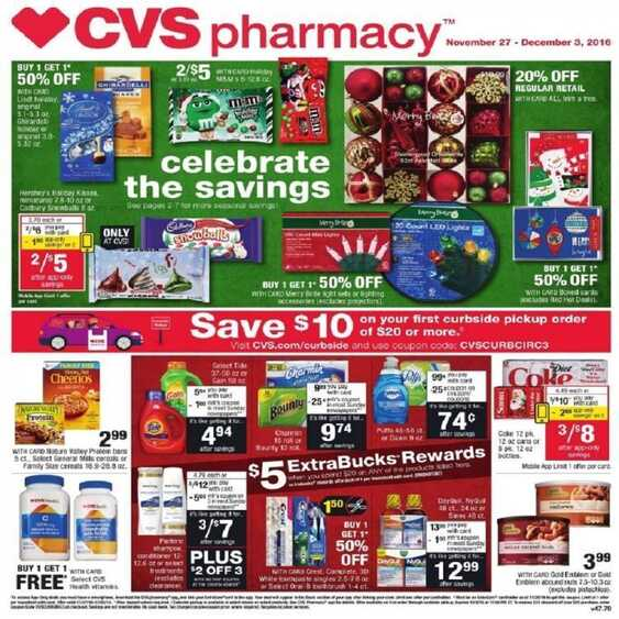 cvs weekly ad black friday 11  27 to 12  3 2016