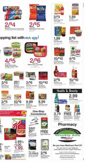 kroger weekly ad marion West Virginia valid to 10/17 2017