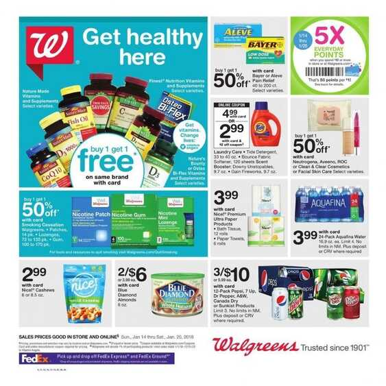 walgreens weekly ad usa for this week valid to 1/20 2018
