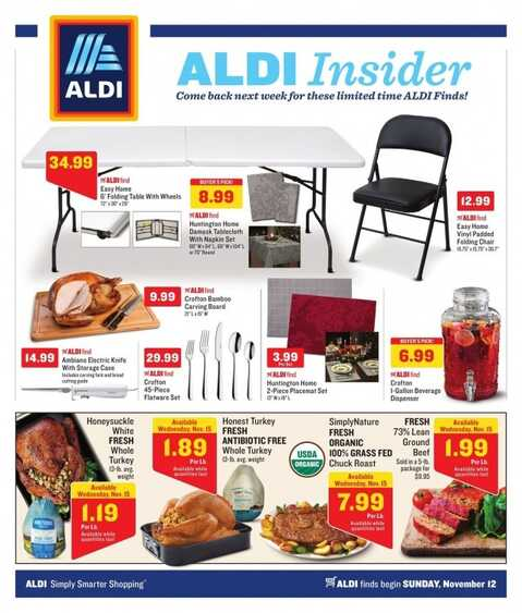 aldi weekly ad sunday november 12 2017