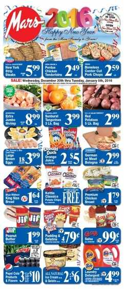 Mars Food Weekly Ads Wednesday 30-12-2015