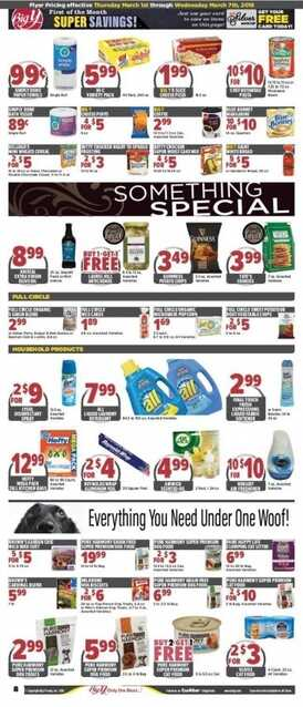 big y weekly ad 3/1 to 3/7 2018 Buy One Get Tow Free