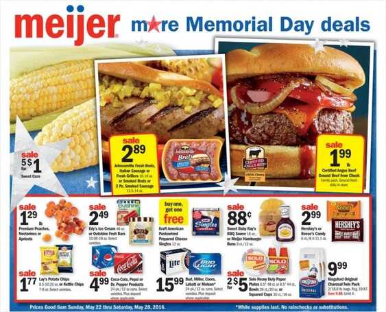 Meijer Weekly Ad Springfield Il 22-5-2016