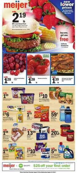 meijer weekly ads indianapolis August 12 to 16 2017