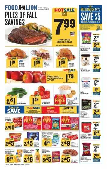 food lion weekly ad va beach October 11 - 17 2017 in VA State
