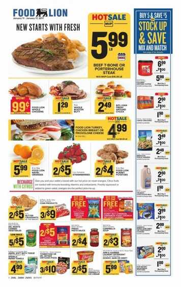 Food Lion Weekly Ad 111 2017 Valid To 117 2017 In Usa Weekly Ads