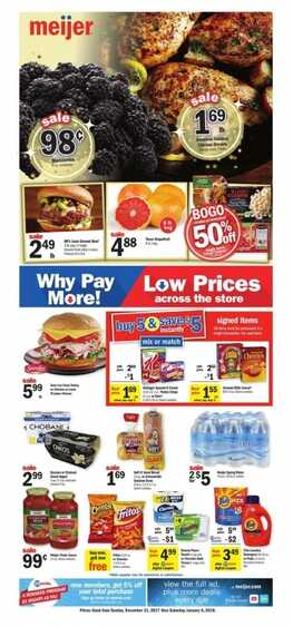 meijer weekly ad merrillville indiana 1/1 to 1/6 2018