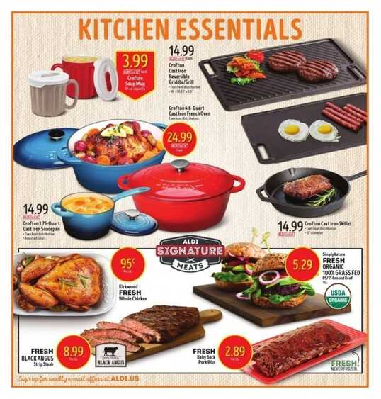 aldi weekly ad grocery store
