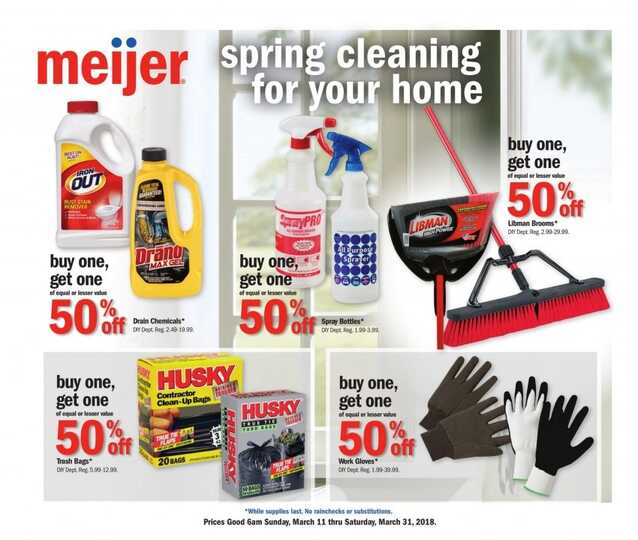 meijer spring cleaning for your home