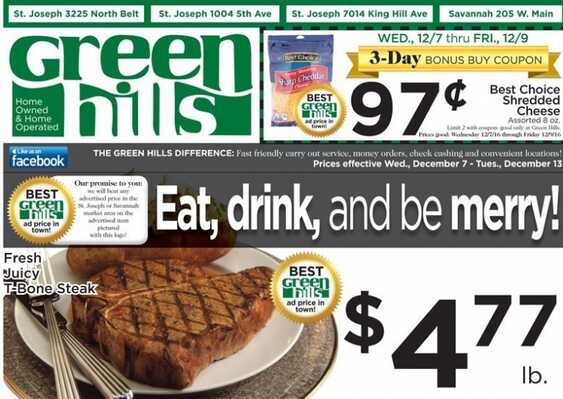 green hills weekly ads valid to December 13 2016