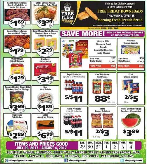grants supermarket ads