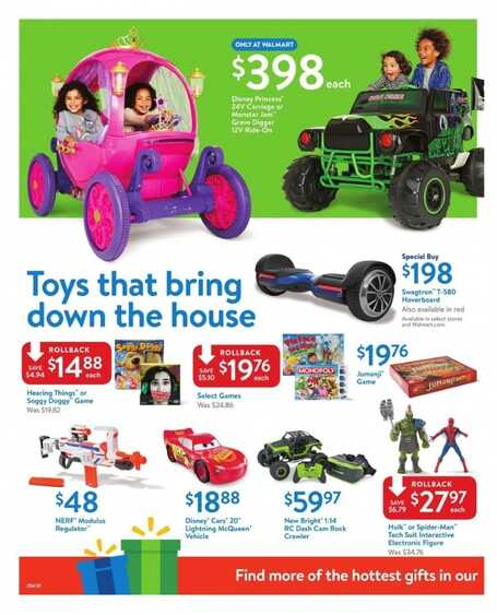 walmart weekly ad december 5 to 9 2017 Gifts that Rock