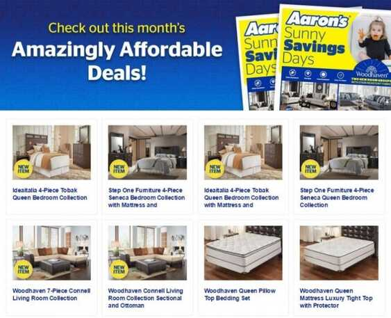 aarons weekly ad that valid to 6/30 2017 in USA