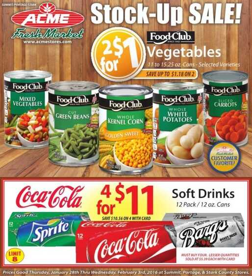 acme weekly ads 28-1-2016