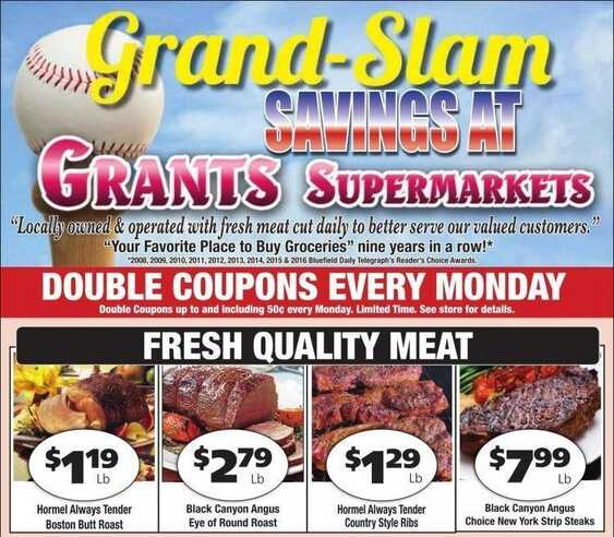 Grants supermarket coupons