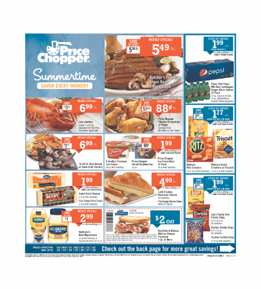 Price Chopper Weekly Ad Branson Mo 22-5-2016