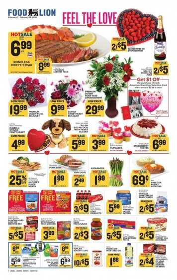 food lion weekly ad feel the love ads February 8 to February 13 2018