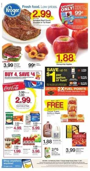 kroger weekly ad marion illinois valid to October 17 2017