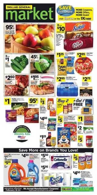 dollar general ad preview for next week valid to 2/24 2018