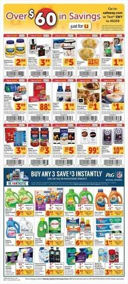 safeway weekly ad Wednesday, September 27 through Tuesday, October 3