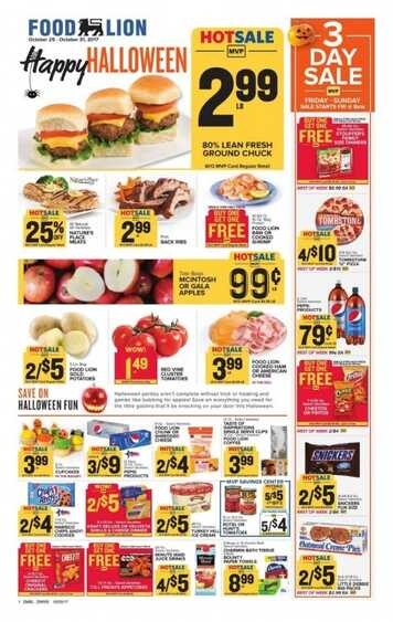 Food Lion Weekly Ad South Carolina Valid To October 31 2017 Weekly Ads