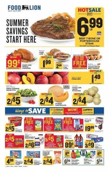 Food Lion Weekly Ad Fuquay Varina Nc Valid To 711 2017 Weekly Ads