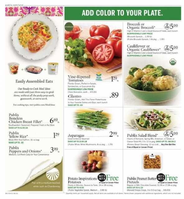 publix weekly ad 3/1