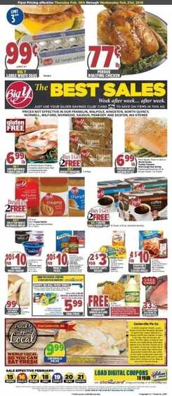 big y market weekly ad Feb 17 to Feb 21 2018