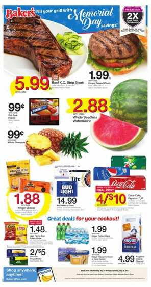 bakers weekly ad omaha 5/26 to 5/30 2017 Memorial Day savings!