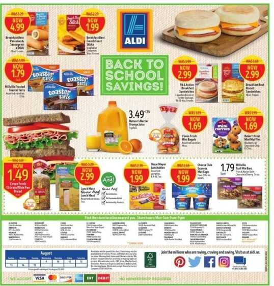 aldi weekly ads springfield il for this week valid to August 15 2017