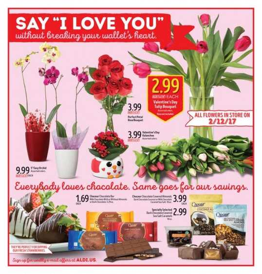 aldi valentine day flowers