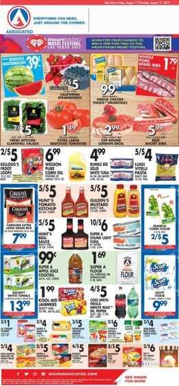 associated supermarket weekly ad ny 8/11 to 8/17 2017