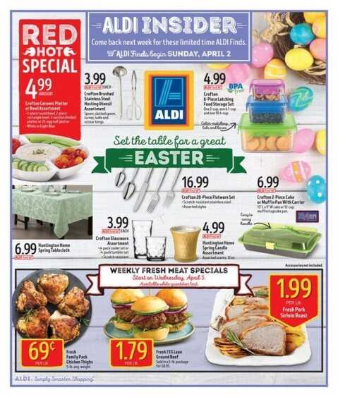 aldi ads this week april 2 2017 red hot special weekly ads. Black Bedroom Furniture Sets. Home Design Ideas