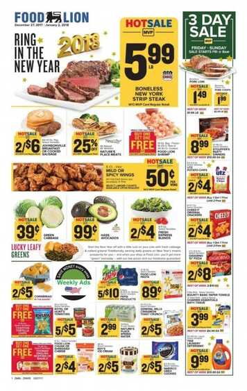 Food Lion Weekly Ad Happy New Year 2018 Valid To 12 2018 Weekly Ads