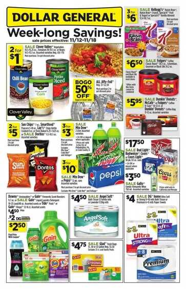 dollar general weekly ad Pennsylvania