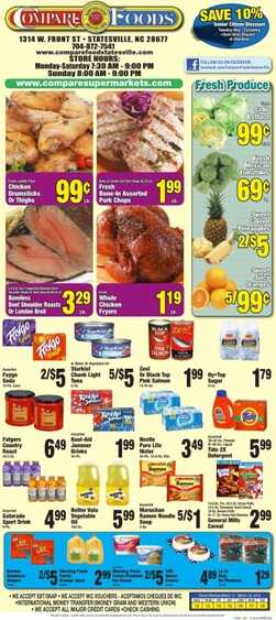 Compare Supermarkets Weekly ads 08-01-2016