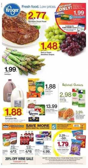kroger weekly ad valentine's day 2/8 to 2/14 2018