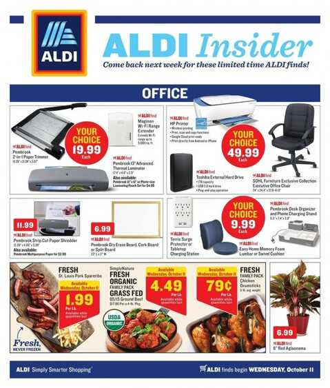 aldi weekly ad ohio October 11 to October 19 2017 in OH State