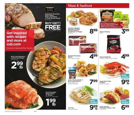 cub foods weekly ad apple valley mn 10/10/17 to 10/16/17